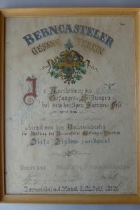 Diplom 1872