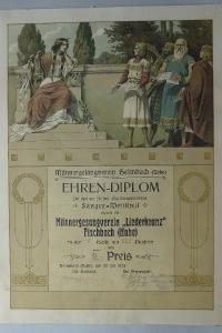 Ehrendiplom Liederkranz Juli 1924
