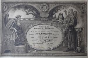 Ehrenurkunde 1927